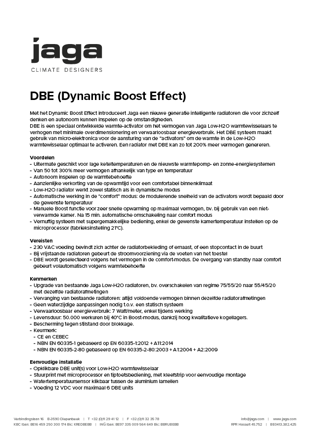 Product Description DBE Renovatieset